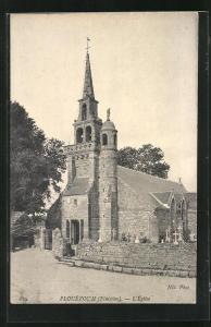 AK Plouézoc`h, L`Église, Ansicht der Kirche