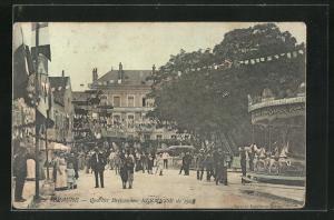 AK Beaune, Quartier Bretonniere, Kermesse de 1906