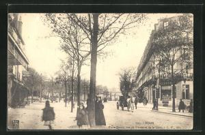 AK Dijon, Place Darcy, vue de l`Avenue de la Gare