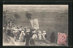 AK Velars-sur-Ouche, Procession du Pelerinage de N. -D. d`Etang