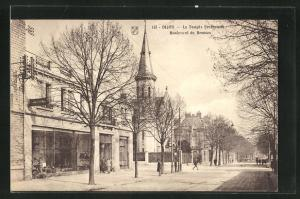 AK Dijon, Le Temple Protestant, Boulevard de Brosses