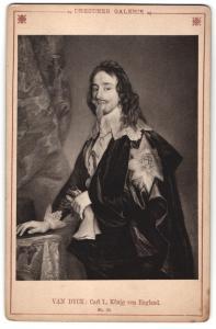 Fotografie Portrait Carl. I., König von England, nach van Dyck