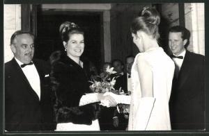 Fotografie Fürst Rainier von Monaco und Grace Kelly 1969