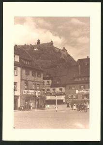 Fotografie Fotograf unbekannt, Ansicht Kulmbach, Ladengeschäfte - Eisenwarenhandlung im Ortskern