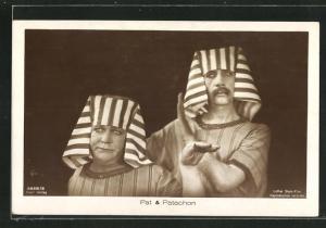 AK Schauspieler Pat & Patachon als Ägypter kostümiert