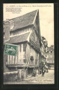 AK Lisieux, La Rue aux Fevres, no 35, Manoir Formeville du XIVe siecle