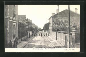 AK St-Leu, Rue de la Mairie, Strassenpartie