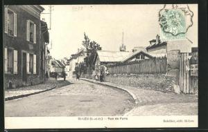 AK St-Leu, Rue de Paris, Strassenpartie