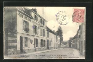 AK Luzarches, La Poste rue Bonnet