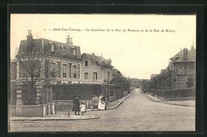 AK Saint-Leu-Taverny, Le Carrefour de la Rue de Pontoise et de la Rue de Boissy