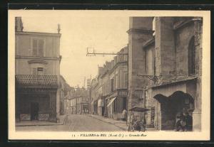 AK Villiers-le-Bel, Grande-Rue, Strassenpartie