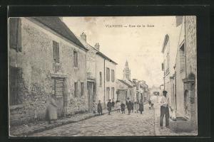 AK Viarmes, Rue de la Gare, Strassenpartie