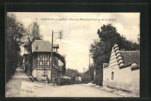 AK Parmain, Rues du Marechal-Foch et de la Justice, Strassenpartien