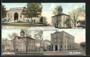 AK Mankato, MN, Public Library, Union School, Franklin School