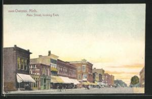 AK Owosso, MI, Main Street, looking East