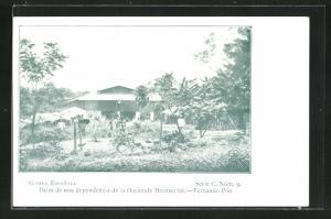AK Fernando-Poo, Patio de una dependencia de la Hacienda Montserrat