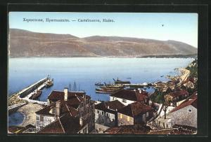 AK Castelnuovo, Teilansicht mit Hafen