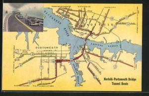 AK Norfolk, VA, Norfolk-Portsmouth Bridge Tunnel Route