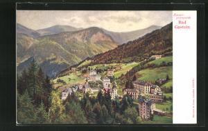 AK Bad Gastein, Häuser an der Kaiserpromenade