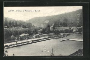 AK Lustin, l'Ecluse et Panorama de Burnot