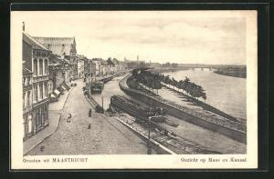 AK Maastricht, Gezicht op Maas en Kanaal