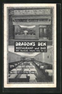 AK Atlantic City, NJ, Dragon`s Den, Restaurant and Bar, 2021 Broadwalk