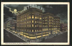 AK Norfolk, VA, Monticello Hotel by night