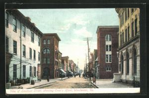 AK Winchester, VA, Loudoun Street with Evan's Hotel