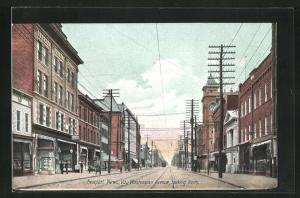 AK Newport News, VA, Washington Avenue with Tramway looking North