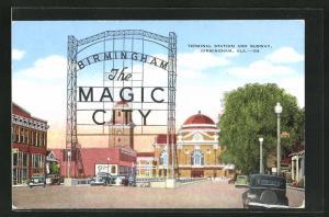 Künstler-AK Birmingham, AL, Terminal Station and Subway