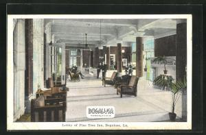 AK Bogalusa, LA, Lobby of Pine Tree Inn Hotel