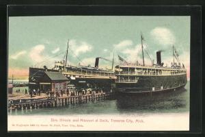 AK Traverse City, MI, Strs. Illinois and Missouri at Dock