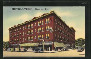 Künstler-AK Decatur, AK, Hotel Lyons
