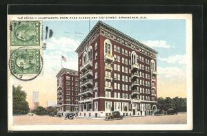 AK Birmingham, AL, the Ridgely Apartments, from Park Avenue and 21st Street