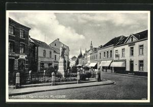 AK Kerkrade, Markt met Hl. Hartbeeld