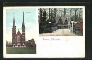 AK Oostacker, L`Eglise, Boutique et Entrée de la Grotte