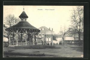 AK Hasselt, Place Léopold, Partie im Ort