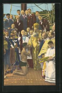 AK Tarpon Springs, FL, Epiphany Day, Blessing after receipt of the Cross from the Archbishop
