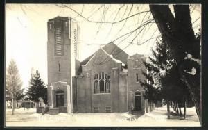 AK New Albin, IA, M. E. Church in Winter