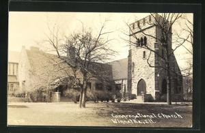 Foto-AK Winnetka, IL, Congregational Church, Kirche