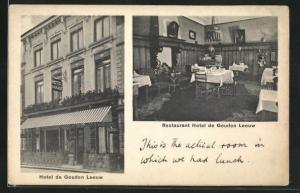 AK Bergen op Zoom, Hotel De Gouden Leeuw, Restaurant
