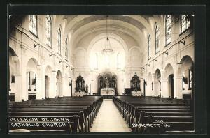 AK Bancroft, IA, Interior of St. John`s Catholic Church