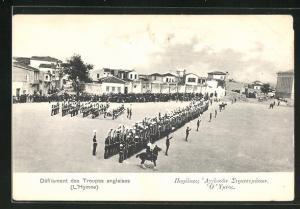 AK Candie, Derfilement des Troupes anglaises, L`Hymne