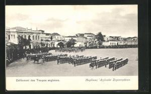 AK Candie, Derfilement des Troupes anglaises