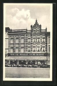 AK s`Hertogenbosch, Hotel Noord-Brabant, Groote Markt