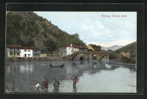 AK Rijeka, Blick auf die Alte Brücke