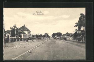AK Batavia, Molenvliet, Strassenpartie in der Stadt