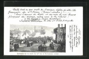 AK St. Pierre, Incendie 1902