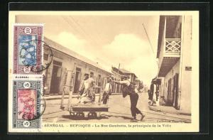 AK Rufisque, La Rue Gambetta, la principale de la Ville