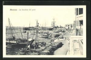 AK Massaua, La banchina del porto